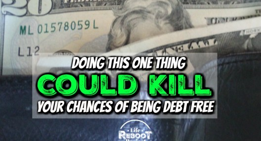 Doing this one thing could kill your chances of being debt free. There are too many factors to determine how fast debt free payoff will take. #liferebootproject #beingdebtfree #financialtips #frugallivingtips