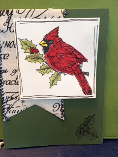 Christmas card with cardinal