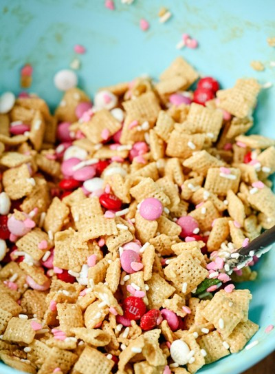 mixing-valentines-day-chex-mix