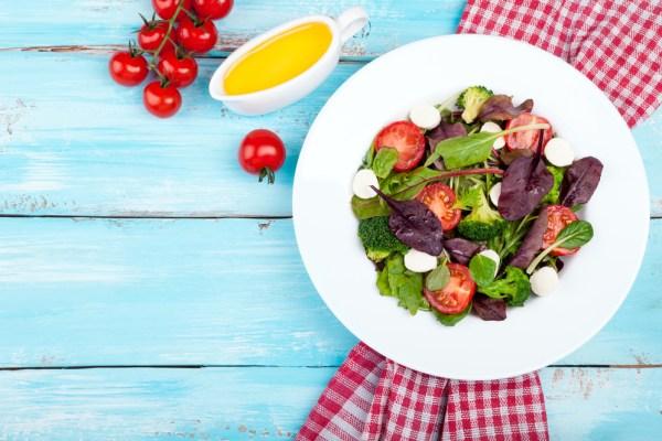 Spring Salad on Picnic Table