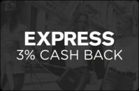 Express 3% cash back
