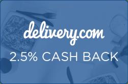 Delivery.com 2.5% Cash Back