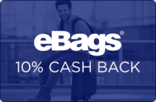 eBags 10% Cash Back