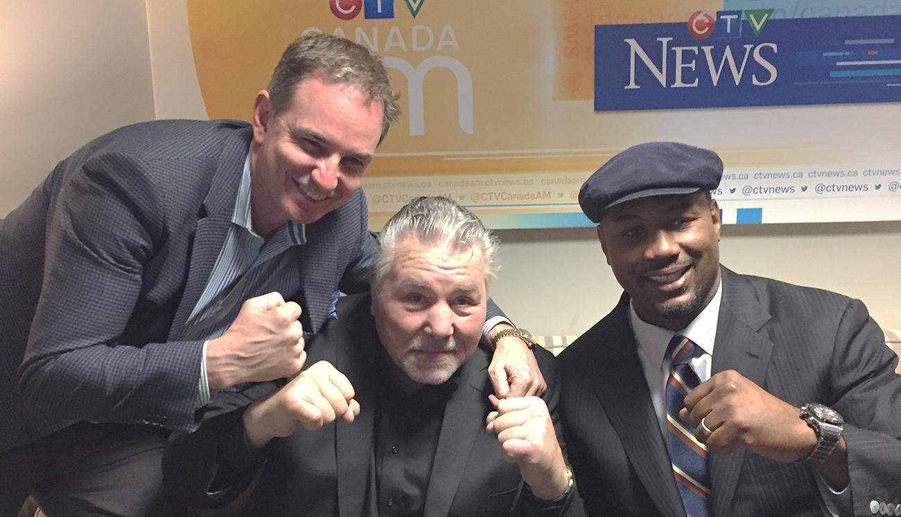 Les Woods Lennox Lewis Geroge Chuvalo Global Legacy Boxing