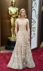 Best: Cate Blanchett's floral-detailed Giorgio Armani gown was stunning and springy. PHOTO/ Getty