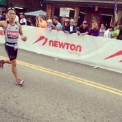 Feeling good out of T2 - made up some time with a 3:30 marathon
