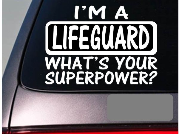 Lifeguard sticker auto
