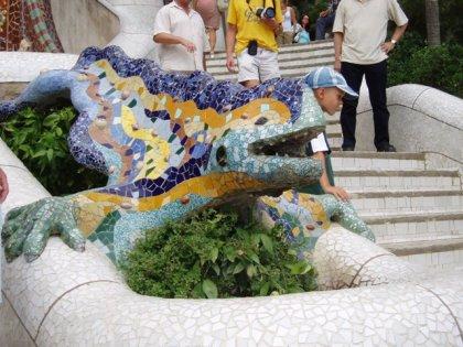 Gaudi mosaic work
