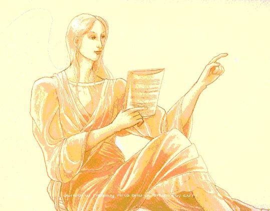 「楽譜を読む天使」