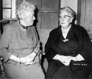 Margaret Rutherford meeting with Agatha Christie