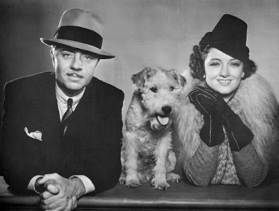 William Powell, Aster the dog and Myrna Lloyd in The Thin Man