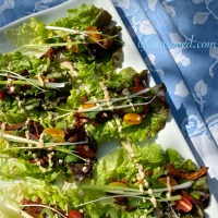 Lettuce Wraps With Chipotle Lime Soy Curls