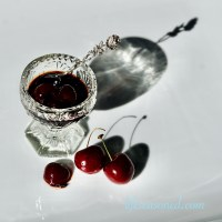 Cherry Basil Balsamic Reduction