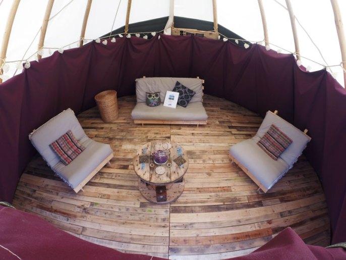 Life Seeker tipi interior