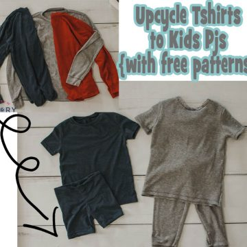 Upcycle tshirt = Toddler PJ's! {FREE sewing tutorial}
