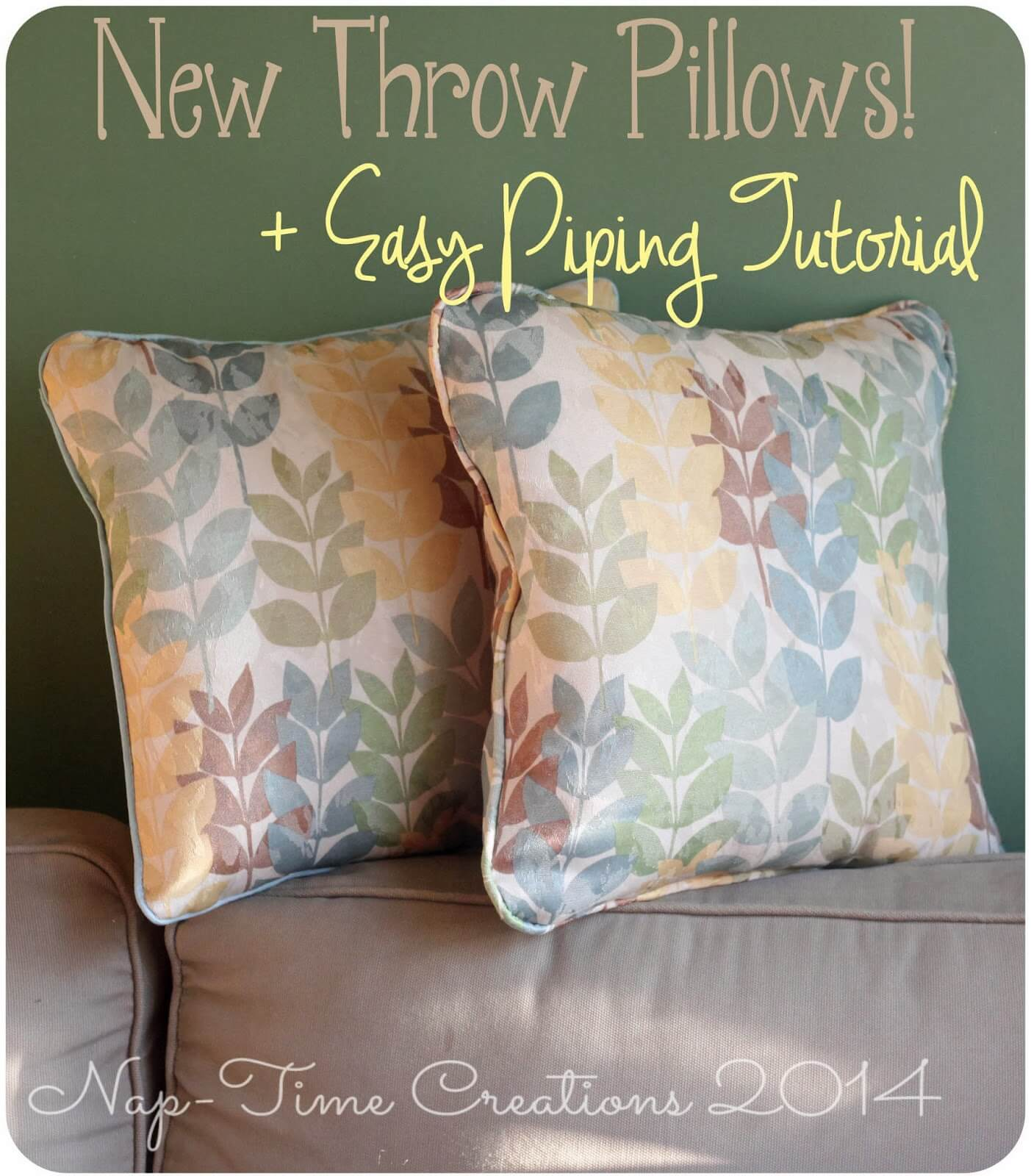 throw pillow with piping tutorial