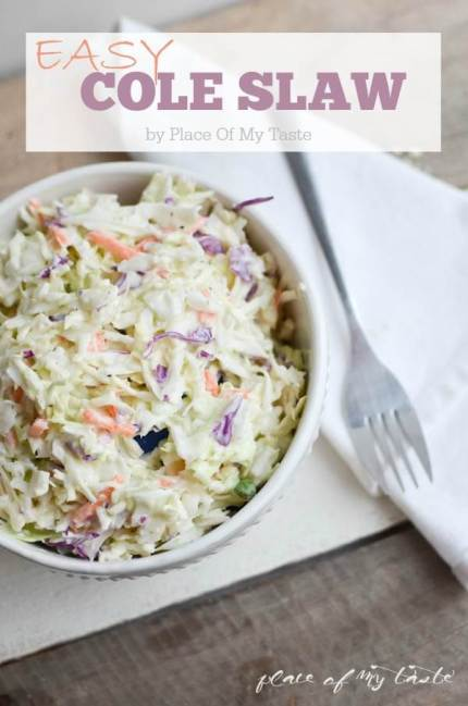 Easy Cole slaw Recipe by Place of my Taste
