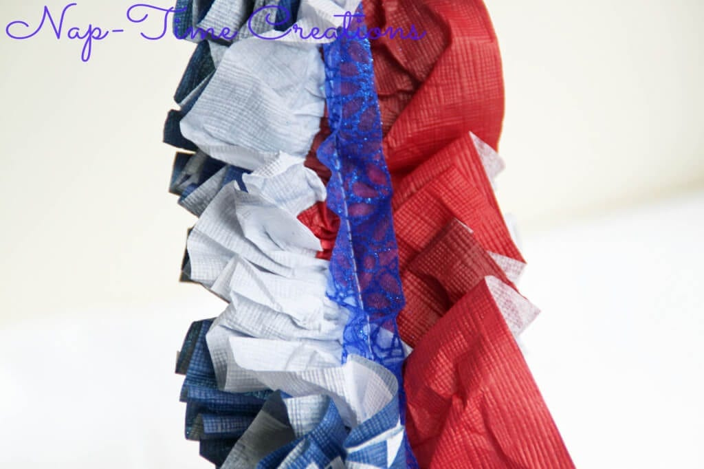 Red White And Blue Ruffled Garland Life Sew Savory