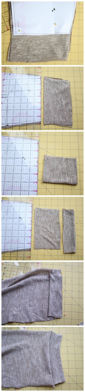 Add a cuff to the free shirt pattern