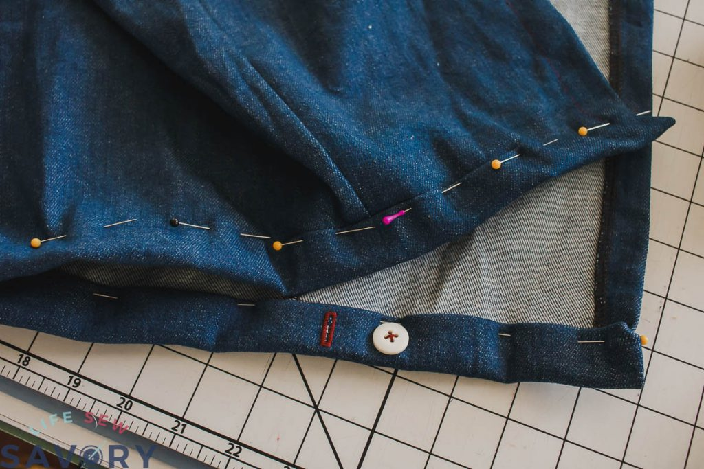 fold over waistband and sew