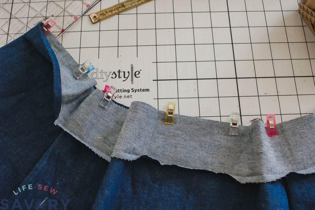 pin waistband on skirt