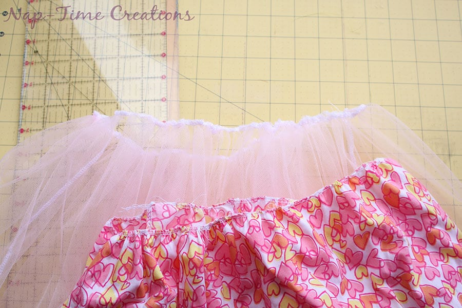 cotton and tulle skirt tutorial 8