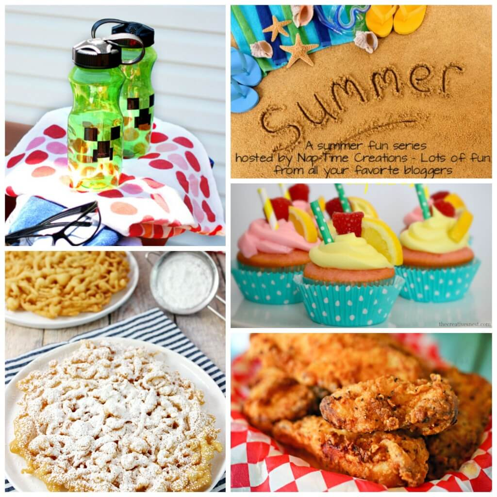 Summer Fun 5 with a Minecraft Water bottle DIY and loads of other fun. From Nap-Time Creations