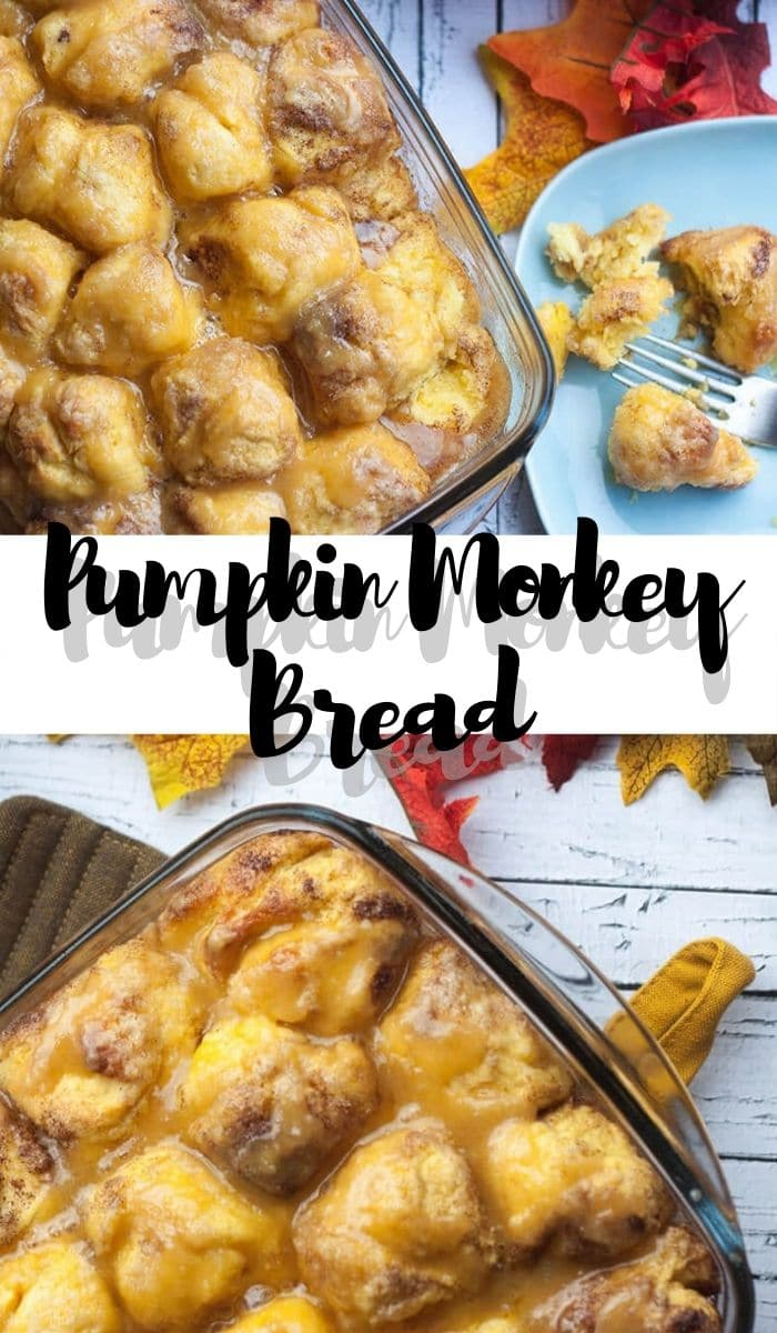 fall monkey bread with pumpkin and maple glaze