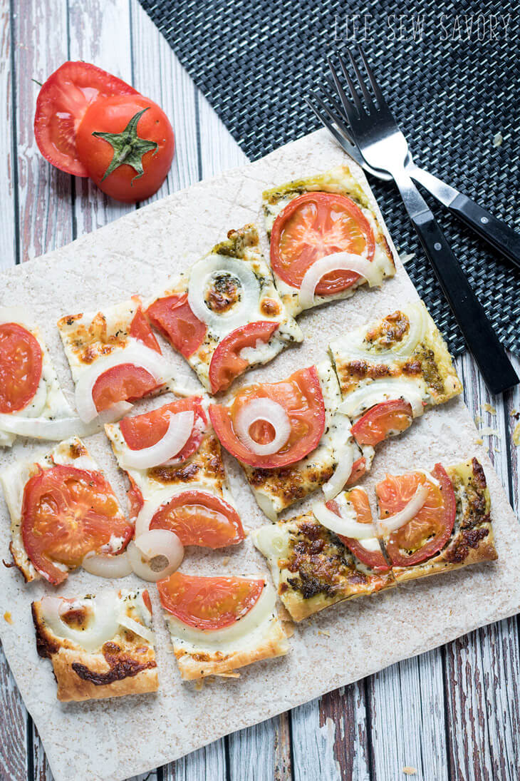 puff pastry with savory flavors