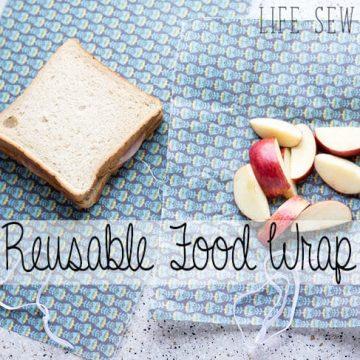 reusable food wrap for DIY fabric wrap