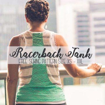 free tank top pattern racerback style for women