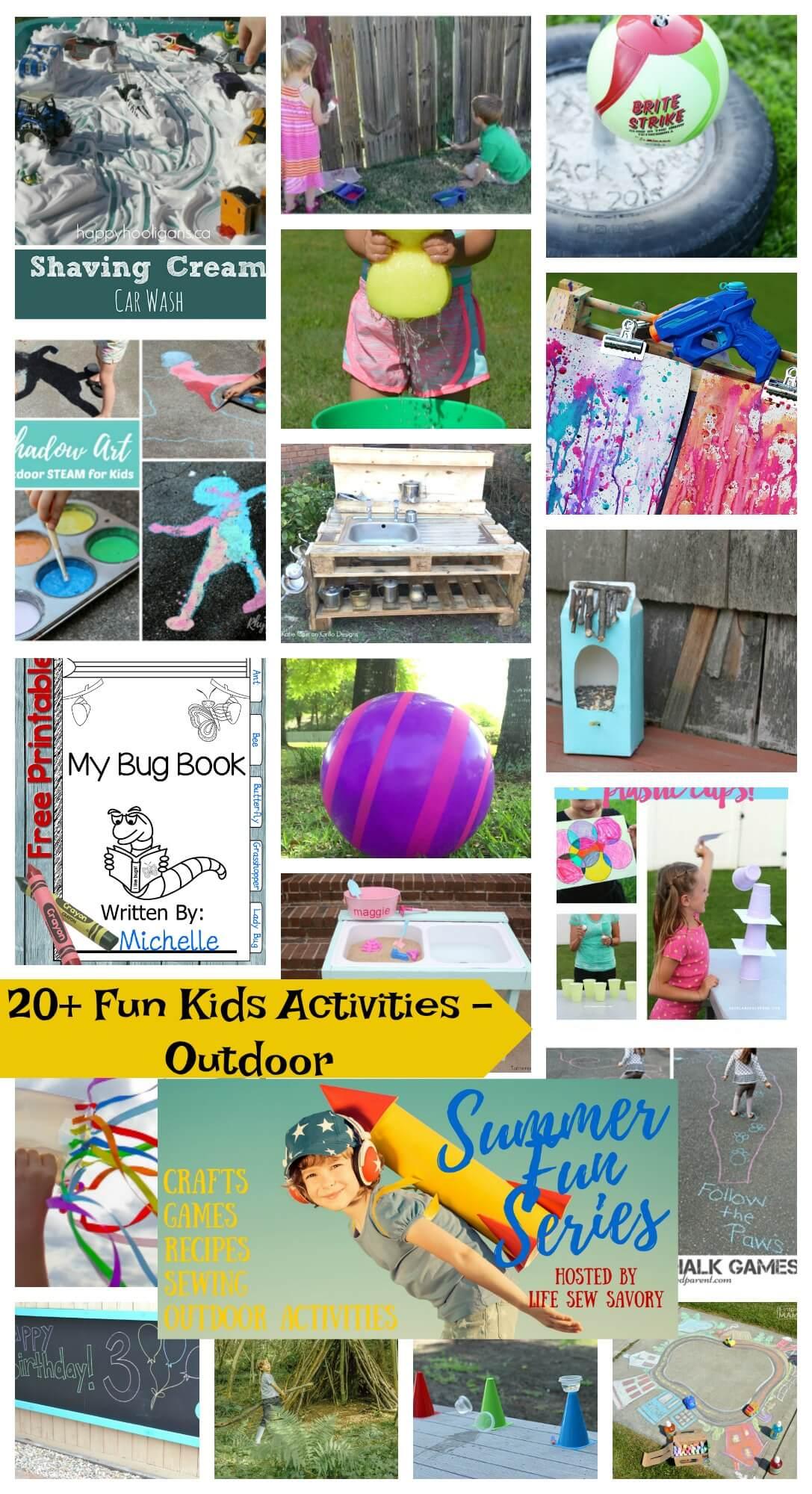 Fun Kids Activities - Outdoor fun from Life Sew Savory Summer Fun Series