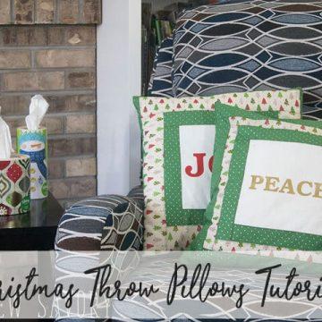 Christmas pillows DIY