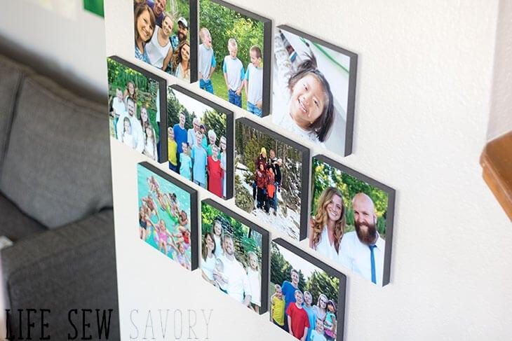 Easy photo wall decor