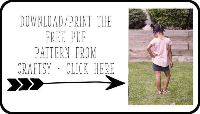 girl t shirt pattern