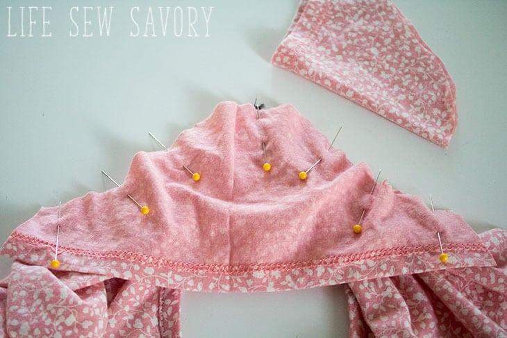 girls tee sewing pattern sleeve