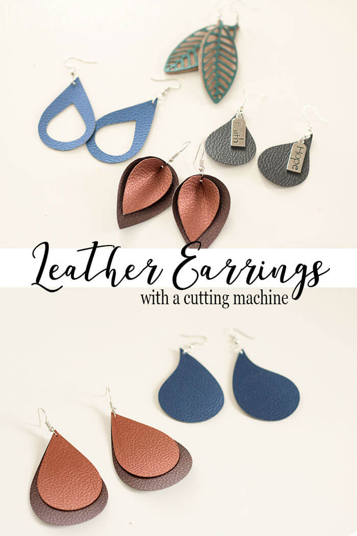 Faux Leather Earring Template : leather, earring, template, Leather, Earrings, Savory
