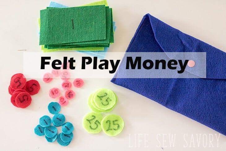 felt play money for kids