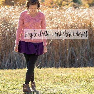 Gathered Skirt with Elastic Waistband