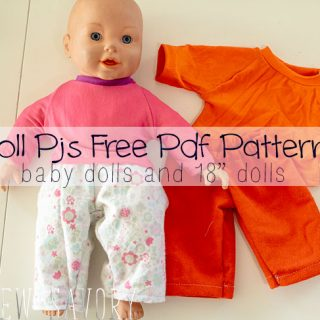 Pj Pants! free doll clothes sewing patterns