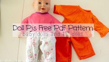 Girl and Doll Matching Dress Free Sewing Patterns - Life Sew Savory
