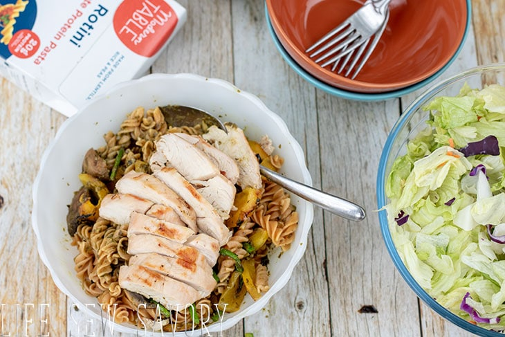 grilled chicken and vegetable pasta recipe