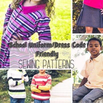 School Uniform Dress Code Friendly Sewing Patterns for kids