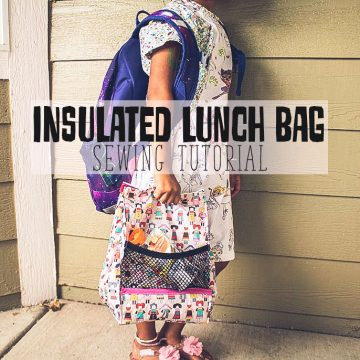 insulated lunch bag sewing tutorial