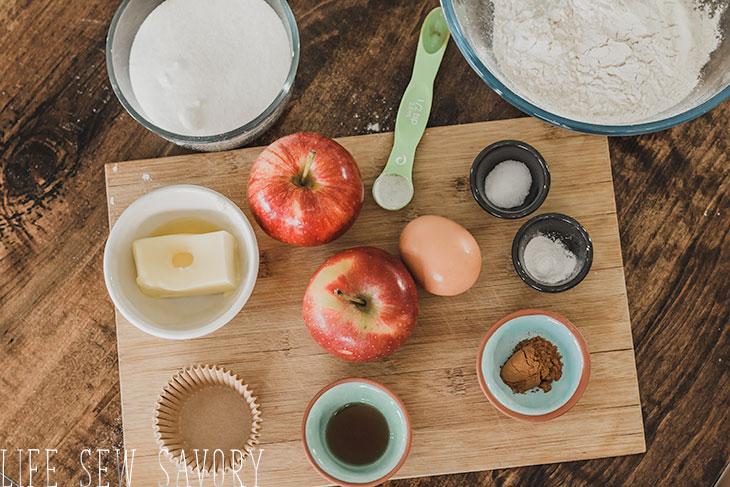 apple cupcakes recipe ingredients