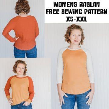 Free Shirt Sewing Pattern - Womens Raglan