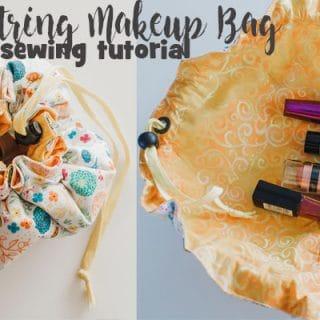 Drawstring Makeup Bag - Sewing Tutorial