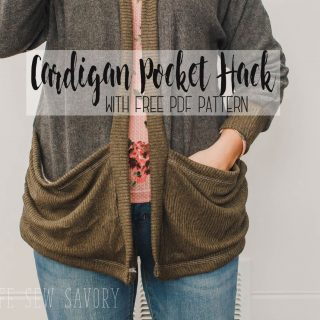 Cardigan with Pockets - Sewing hack video