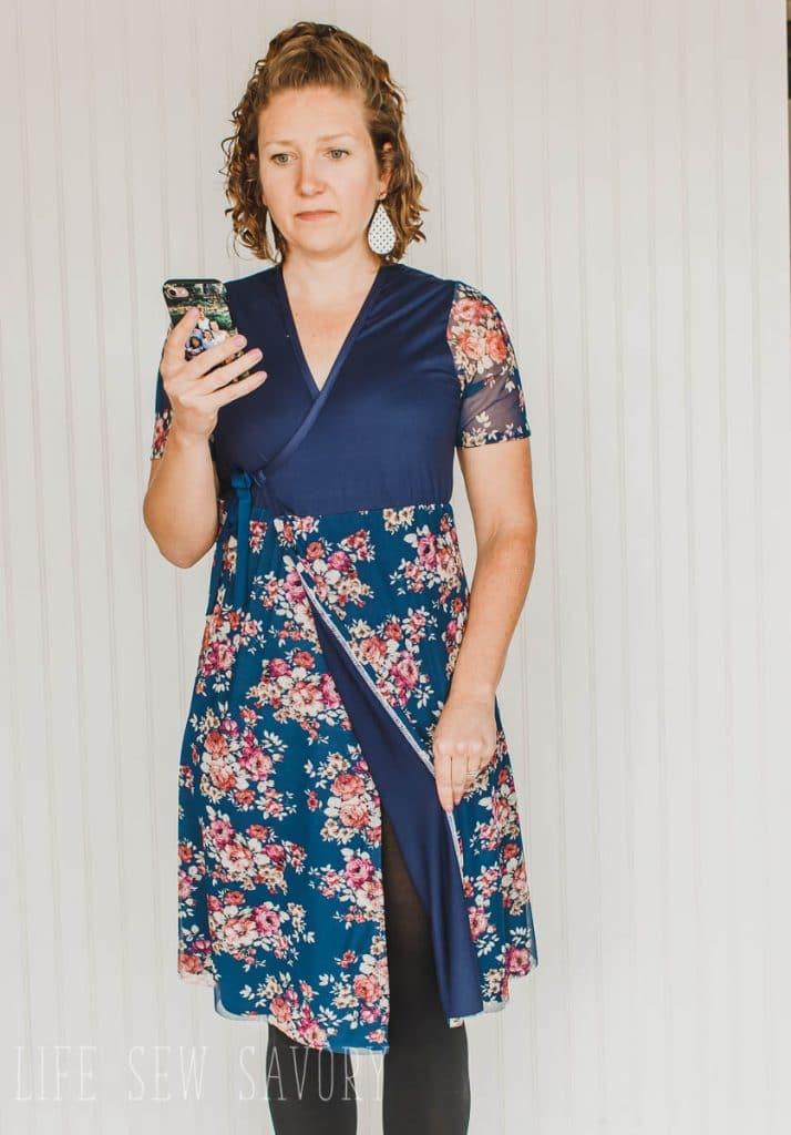 wrap around dress pattern