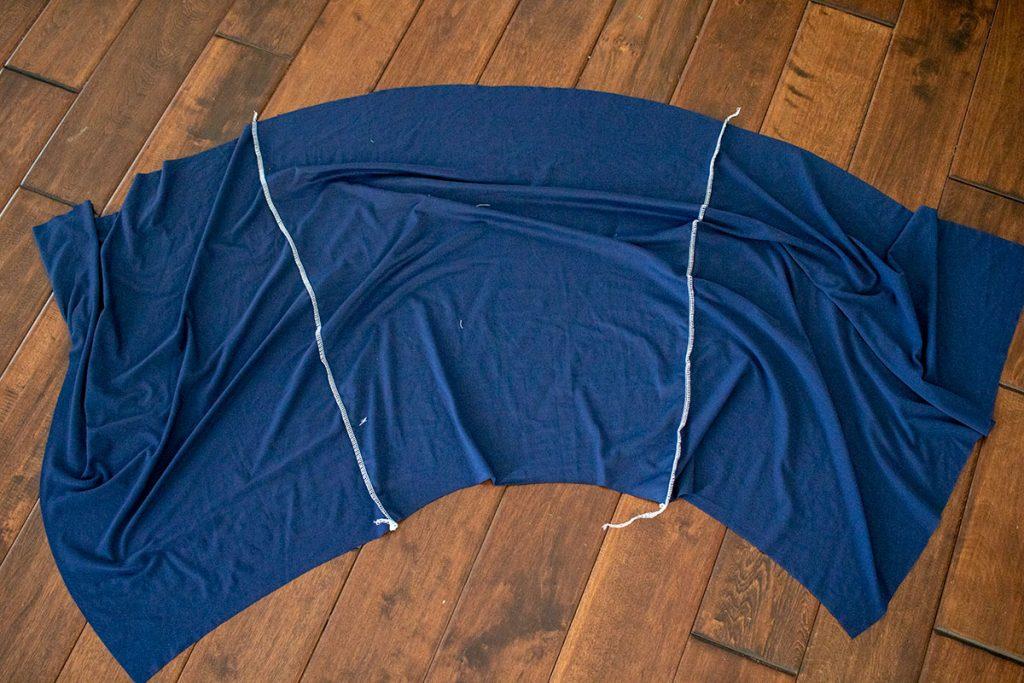 sew skirt panels together